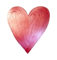 Foil Paint Heart on White Background Love vector image