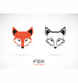 fox head design on white background wild animals vector image vector image