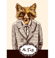 fox in jacket vector image vector image