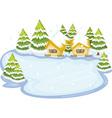 frozen lake vector image vector image