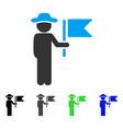 gentleman commander flat icon vector image vector image
