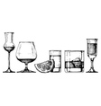 glasses goblets set vector image vector image