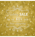 golden background and label with sale offer vector image