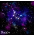 great bear constellation vector image vector image