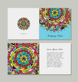 greeting card design floral mandala vector image vector image