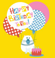 happy birthday greeting card with cats vector image