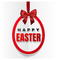 happy easter greeting card with color paper vector image