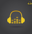 Headphone with eq icon vector image vector image