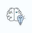 idea business brain mind bulb flat icon green and vector image