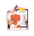 insurance concept for web banner website vector image