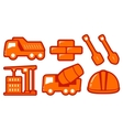 isolated construction yellow objects vector image vector image