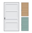 isolated doors vector image