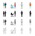 isolated object of character and avatar symbol vector image vector image