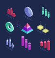 isometric 3d business statistics data charts vector image vector image