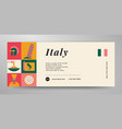 italy travel banner layout vector image vector image