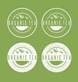 leaves organic tea labels set vector image