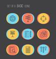 management icons set with task list money revenue vector image