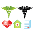 Medical elements vector image vector image