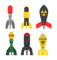 missile rocket set icon vector image vector image