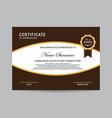 modern certificate template vector image