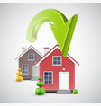 moving to a new house with a green arrow vector image
