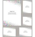 Multicolor page corner design template set vector image vector image