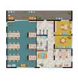 office floor plan vector image