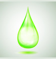 one big green drop vector image vector image