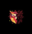 owl polygon colorful concept design vector image vector image