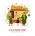 pizza time vector image vector image