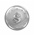platinum coin vector image vector image