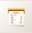print receipt cash on white background vector image