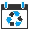 Recycle Calendar Day Toolbar Icon vector image vector image