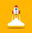 Rocket launch symbol spaceship flat design icon