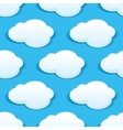 Seamless background pattern of fluffy white clouds vector image vector image