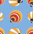 seamless pattern hot air balloons vector image