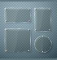 set glass frames on transparent vector image vector image
