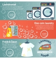 Set of Laundry banners with laundromat detergents vector image vector image