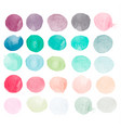 set of watercolor shapes watercolor blobs vector image vector image