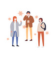 set people in protective mask flat vector image vector image