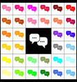 speech bubbles sign felt-pen 33 colorful vector image vector image