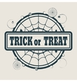 Stamp with Trick or Treat text vector image vector image