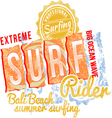 Surf Rider Text Design vector image
