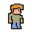 the pixel man vector image