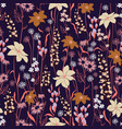 trendy floral pattern in many kind flowers vector image vector image