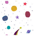 universe space planet star seamless pattern vector image vector image