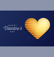 valentine day flyer classic blue background vector image vector image