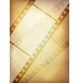 vintage film strip vertical background vector image vector image