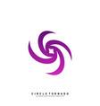 vortex logo design concept hurricane icon vector image