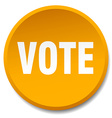 vote orange round flat isolated push button vector image vector image